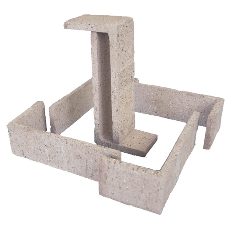 Esquina Semimanual Blanca Raspada 24x11,25x7,5x1,5cm