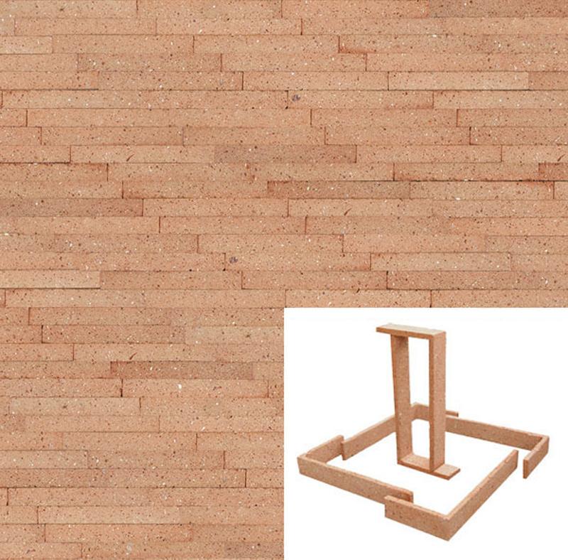 Plaqueta manual cuero arenosa 22x3x1cm refrentada - Plaquetas para suelos ...
