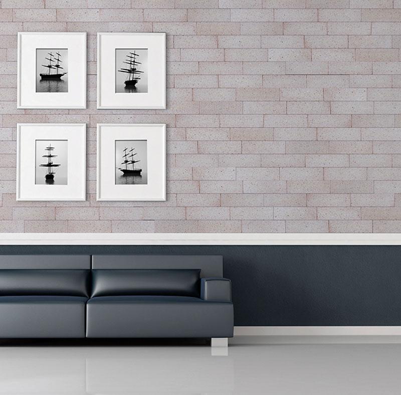 Plaqueta Semimanual Blanca Arenosa 22×6,5x1cm Refrentada 3