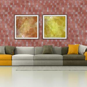 Plaqueta Semimanual Roja Rústica 22×6,5×1,5cm Refrentada