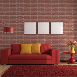 Plaqueta Semimanual Roja Arenosa 24x4x1cm