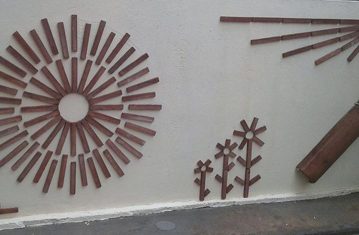 Dibujo con plaquetas ceramicas
