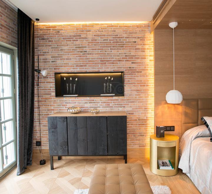 Hoteles decoración ladrillos